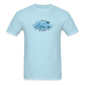 Blue Lobster Radio on Light Blue - Men's T-Shirt