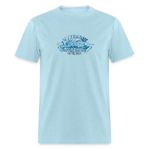 Blue Lobster Radio on Light Blue - Men's T-Shirt