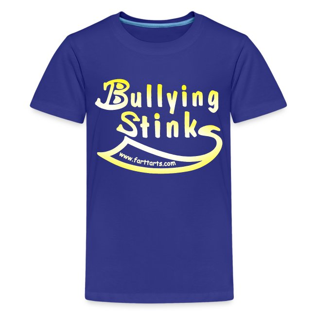 Kid's Bullying Stinks, colored text