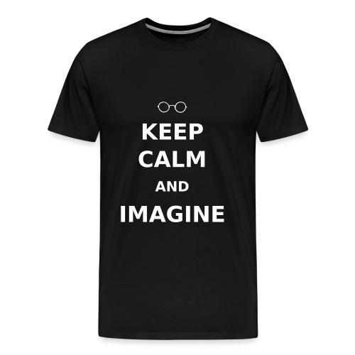 Keep Calm & Imagine t-shirt - Men's Premium T-Shirt