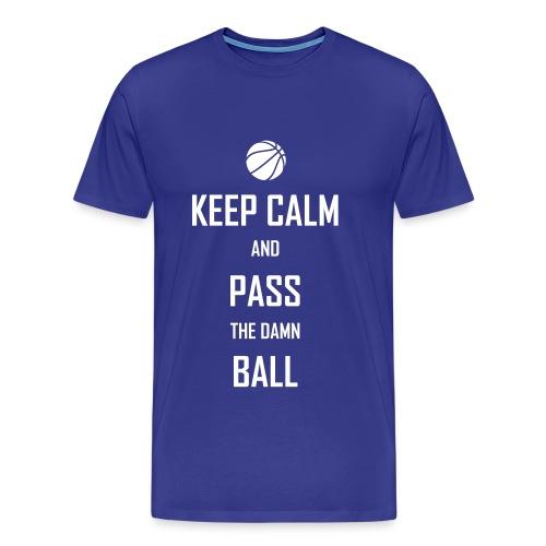 Keep Calm & Pass The Damn Ball t-shirt - Men's Premium T-Shirt