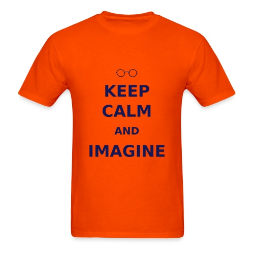 Keep Calm & Imagine t-shirt - Men's T-Shirt