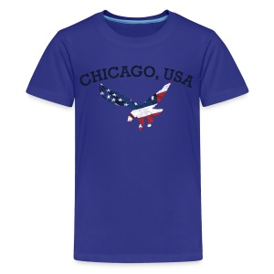 Chicago USA Eagle - Kids' Premium T-Shirt