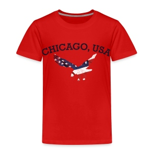 Chicago USA Eagle - Toddler Premium T-Shirt