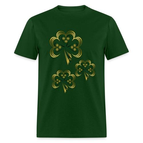 Gold Trimmed Shamrock - Men's T-Shirt