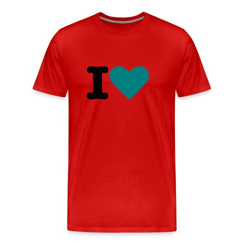 red i love you t-shirt - Men's Premium T-Shirt
