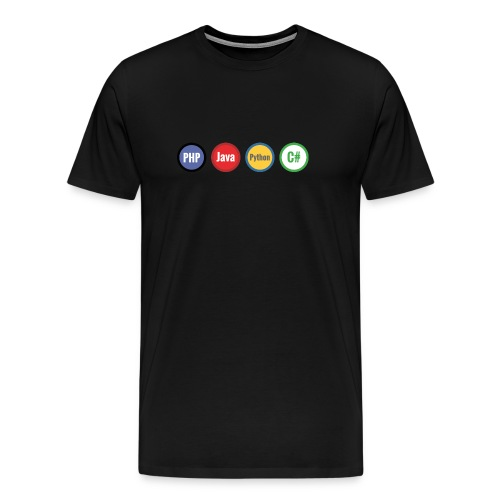 Code Languages Men Tshirt - Men's Premium T-Shirt