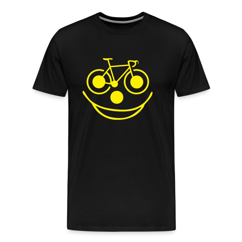 bicycle smiley face men 39 s premium t shirt. Black Bedroom Furniture Sets. Home Design Ideas