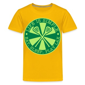 Life is Simple, Eat, Sleep, Play LAX T-Shirt - Kids' Premium T-Shirt