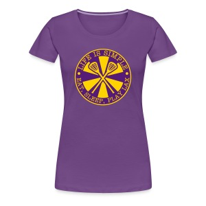 Life is Simple, Eat, Sleep, Play LAX T-Shirt - Women's Premium T-Shirt