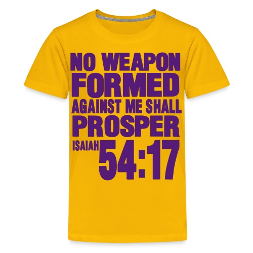 Kid's No Weapon Gildan T-Shirt Yellow and Purple - Kids' Premium T-Shirt