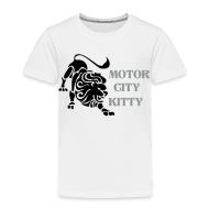 Baby & Toddler Shirts ~ Toddler Premium T-Shirt ~ Motor City Kitty