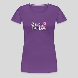 Women's Premium T-Shirt - Show your support for breast cancer with  tee