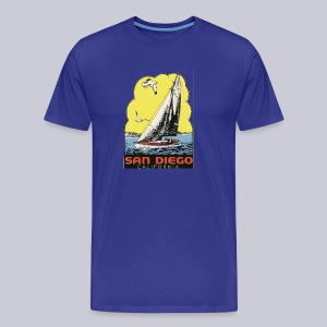 Retro San Diego Sailboat - Men's Premium T-Shirt