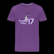 T-Shirts ~ Men's Premium T-Shirt ~ Thank You 17 - Mens - T-shirt (Purple)