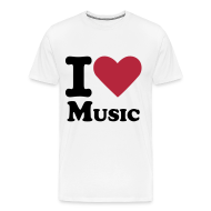 T-Shirts ~ Men's Premium T-Shirt ~  I Love Music