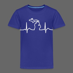 Michigan Heart Beat - Toddler Premium T-Shirt