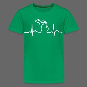 Michigan Heart Beat - Kids' Premium T-Shirt