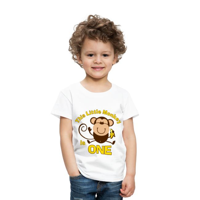 1st Birthday Monkey Boy T Shirt