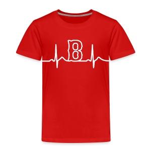 Boston Heart Beat - Toddler Premium T-Shirt