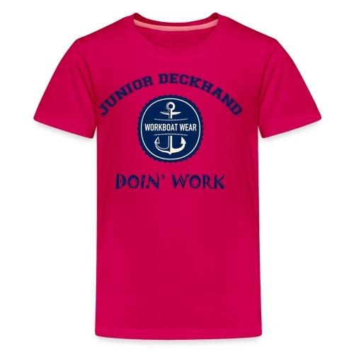 Junior Deckhand Doin' Work - Kids' Premium T-Shirt