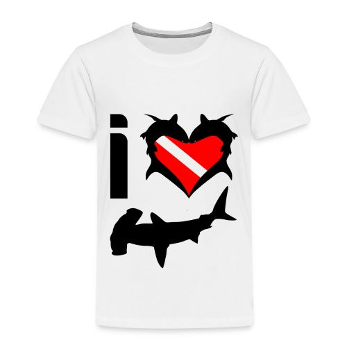 I Love Hammerhead Sharks T-Shirt - Toddler Premium T-Shirt
