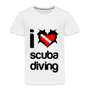 I Love Scuba Diving T-Shirt - Toddler Premium T-Shirt