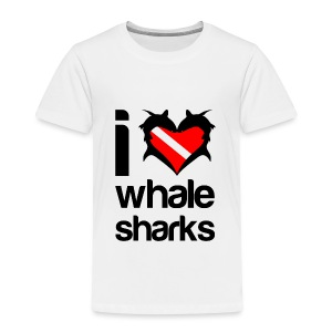 I Love Whale Sharks T-Shirt - Toddler Premium T-Shirt