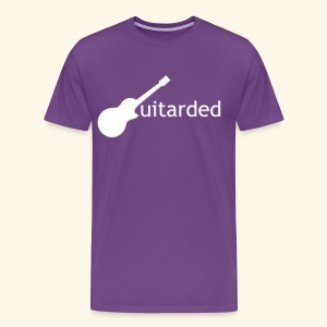 'Guitarded' shirt with original 'Guitarded' design  - Men's Premium T-Shirt