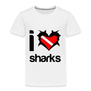 I Love Sharks T-Shirt - Toddler Premium T-Shirt