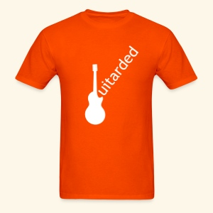 'Guitarded' shirt with original 'Guitarded' design  - Men's T-Shirt