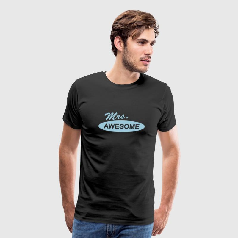 mrs . awesome T-Shirts - Men's Premium T-Shirt