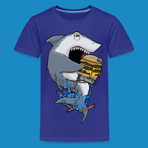 Kid's Hungry Shark Shirt - Kids' Premium T-Shirt