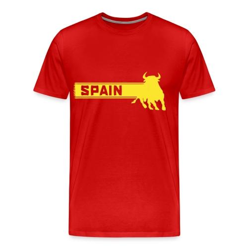 Spain Bull Tee - Men's Premium T-Shirt