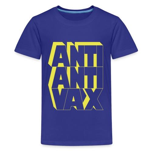 Anti-Anti-Vax (Yellow) - Kids' Premium T-Shirt