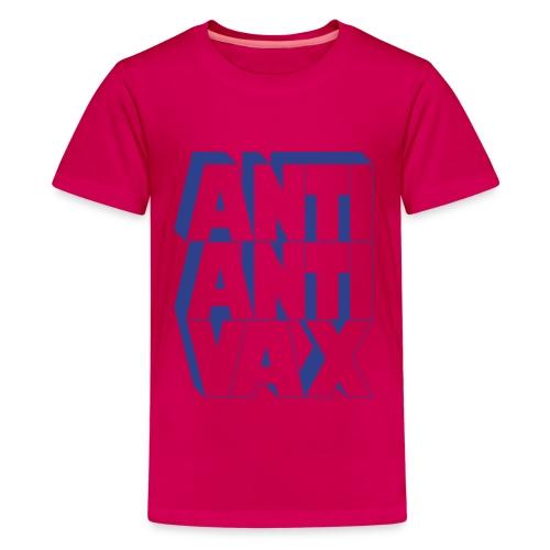 Anti-Anti-Vax (Blue Glitz) - Kids' Premium T-Shirt