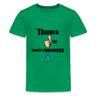 Kids' Shirts ~ Kids' Premium T-Shirt ~ Thumbs Up for Tourette's Awareness! Kid's T-Shirt