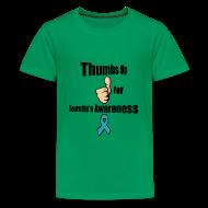 Kids' Shirts ~ Kids' Premium T-Shirt ~ Thumbs Up for Tourette's Awareness! Kid's T-Shirt