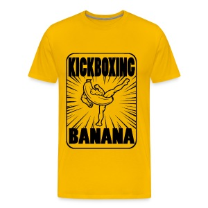 Kickboxing Banana Design #1 - Men's Premium T-Shirt