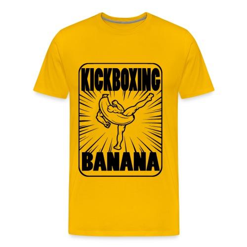 Kickboxing Banana Design #1 - Men's Premium T-Shirt