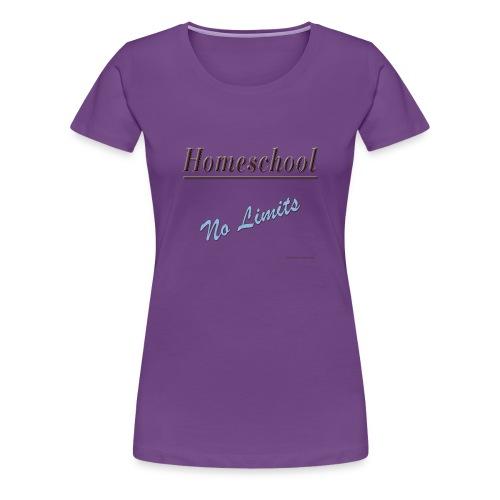 No Limits Homeschool - Women's Premium T-Shirt