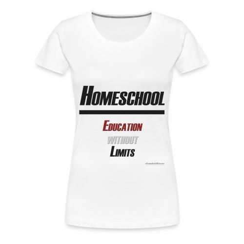 Education Without Limits - Women's Premium T-Shirt