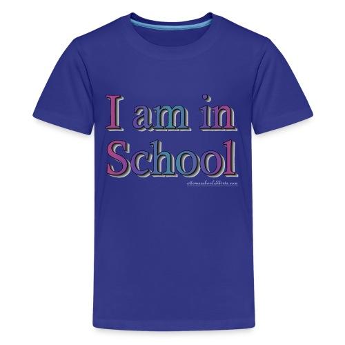 I Am In School Purple/Blue - Kids' Premium T-Shirt