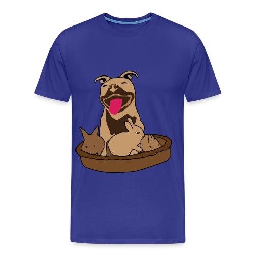 Easter Pitbull Bunny Men XL T-Shirt - Men's Premium T-Shirt