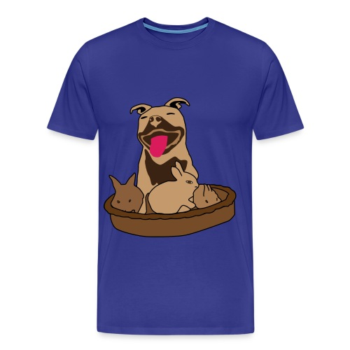 Easter Pitbull Bunny Men XL T-Shirt - Men's Premium T-Shirt