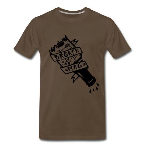 Broken Bottle Brown Design - Men's Premium T-Shirt
