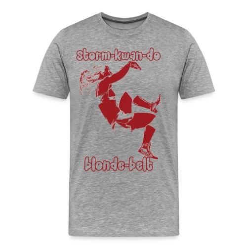 Storm - Blonde Belt (3XL, 4XL) - Men's Premium T-Shirt