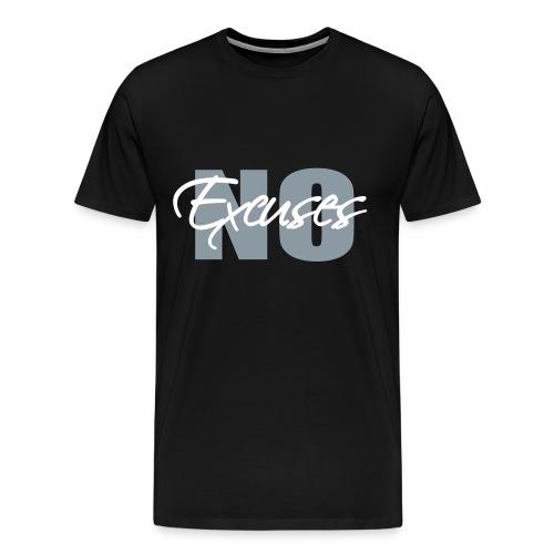 No Excuses Men's 3XL/4XL Classic Cut T-Shirt - Men's Premium T-Shirt