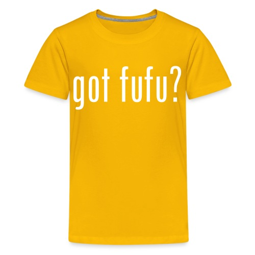 got fufu - Girls's Tee - Yellow / White - Kids' Premium T-Shirt