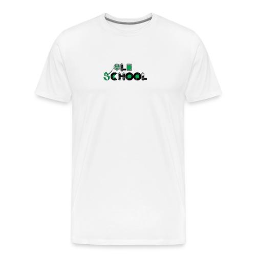Old school on white - Men's Premium T-Shirt